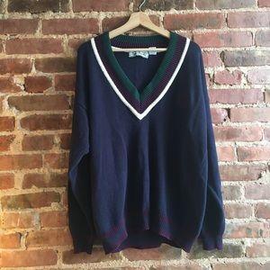VTG Bugle Boy Varsity V-neck Sweater Academia